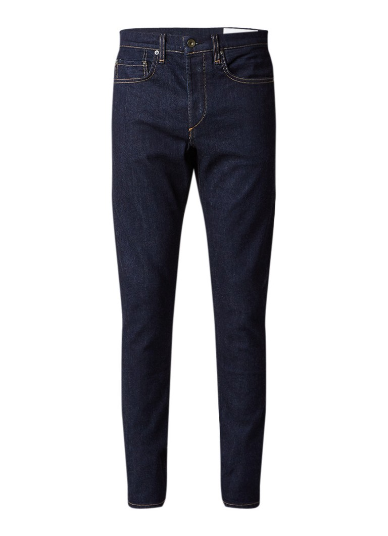 Rag  and  Bone Fit 1 extra slim fit jeans in donkere wassing