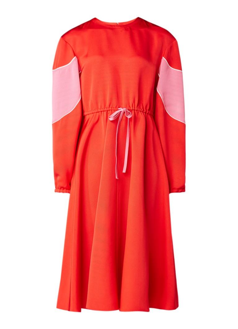 Valentino Fluid Ottoman A-lijn jurk rood