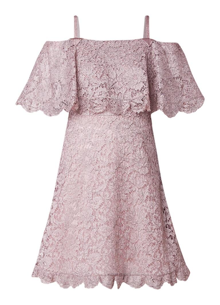 Valentino A-lijn jurk van kant oudroze