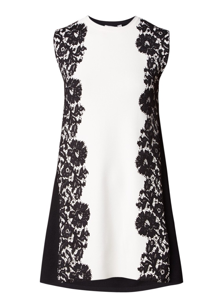 Valentino fijngebreide A-lijn jurk zwart