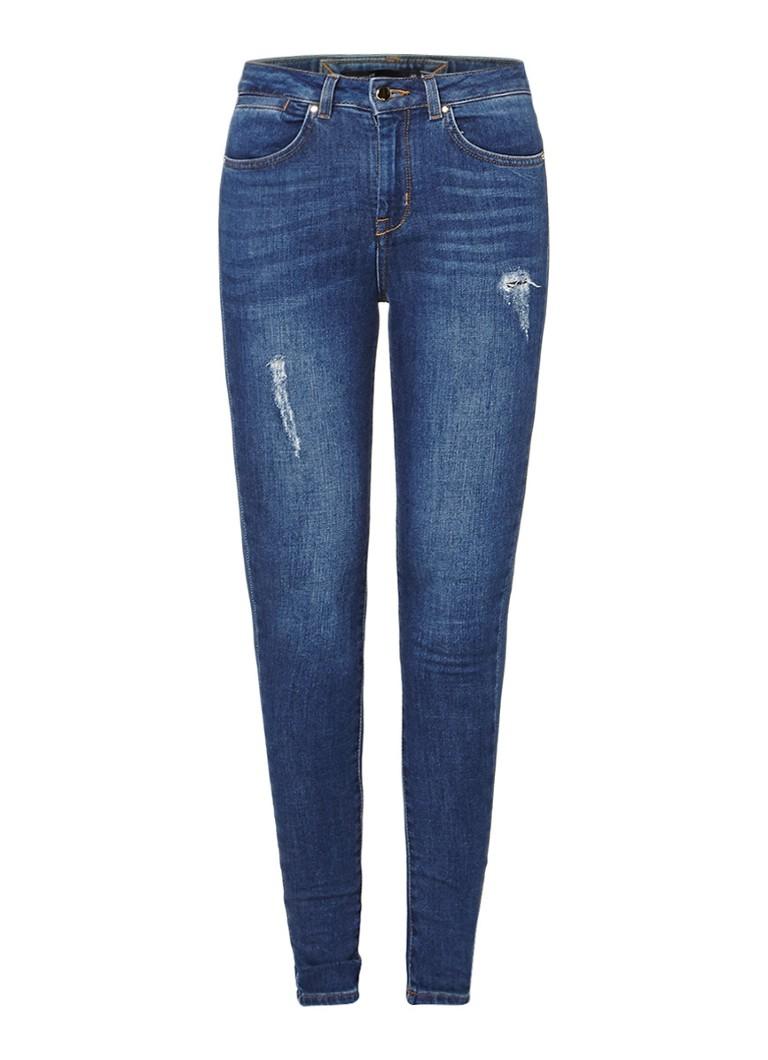 Karen Millen High rise skinny jeans met destroyed look