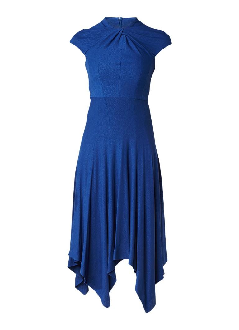 Karen Millen Midi-jurk in wolblend met geknoopte halslijn