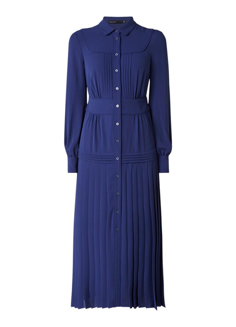 Karen Millen Maxi blousejurk met plissé donkerblauw
