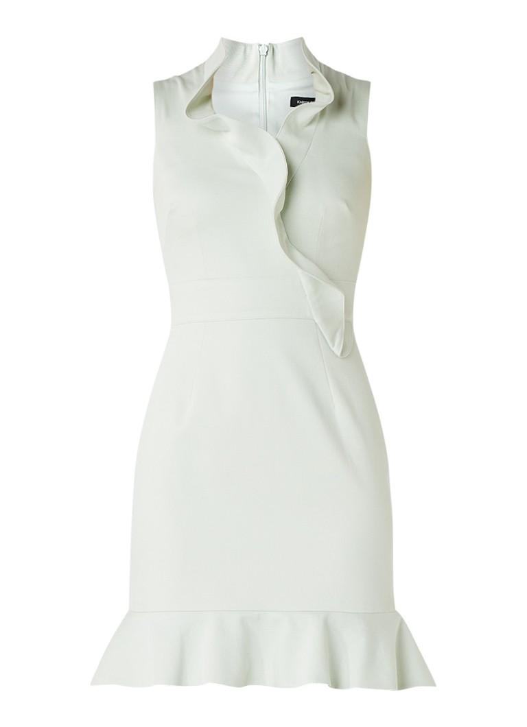Karen Millen Mouwloze jurk van katoen met volant mint