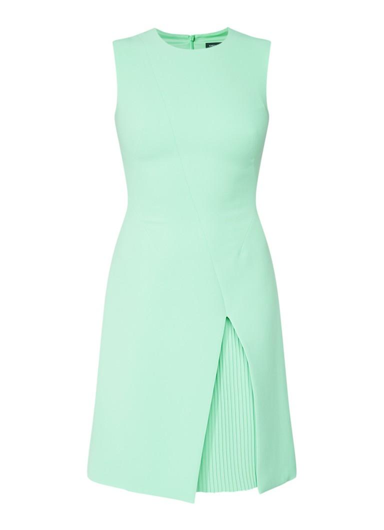 Karen Millen Mouwloze jurk met plissédetail mint