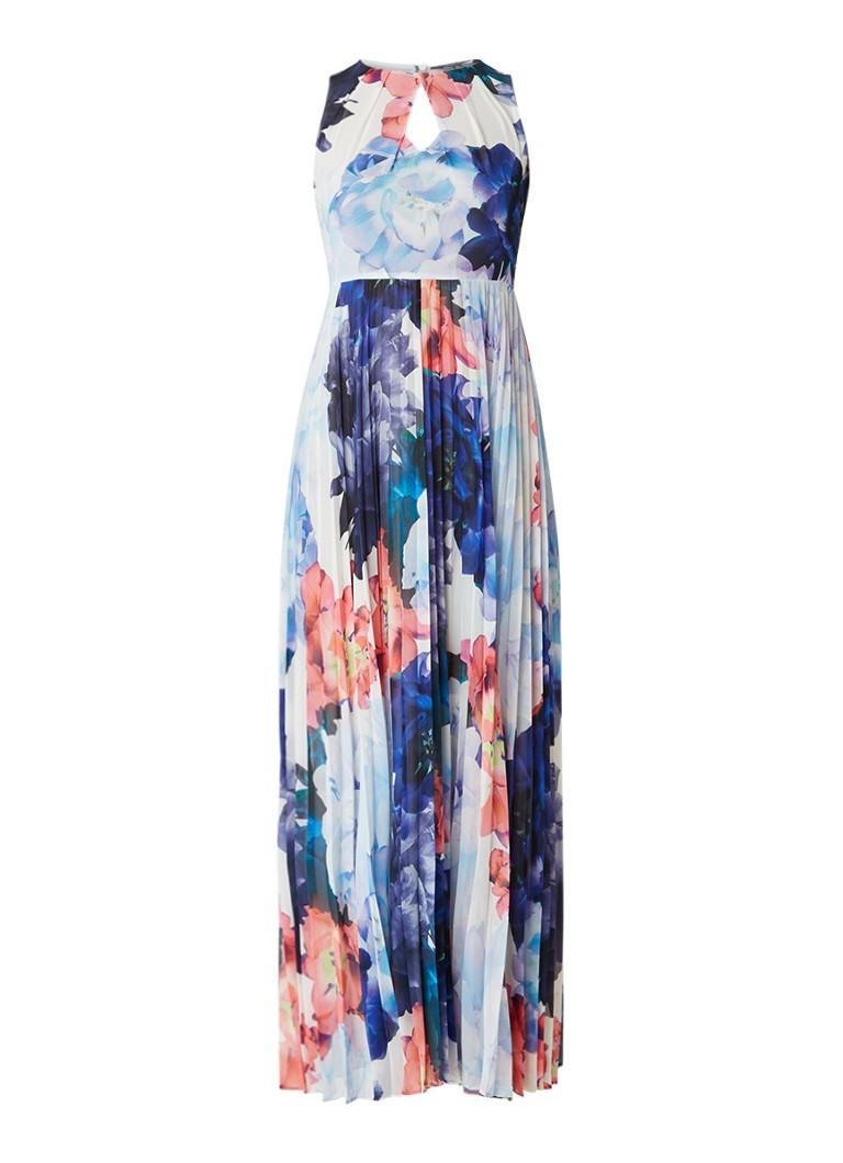 Karen Millen Maxi-jurk met plissérok en bloemendessin multicolor
