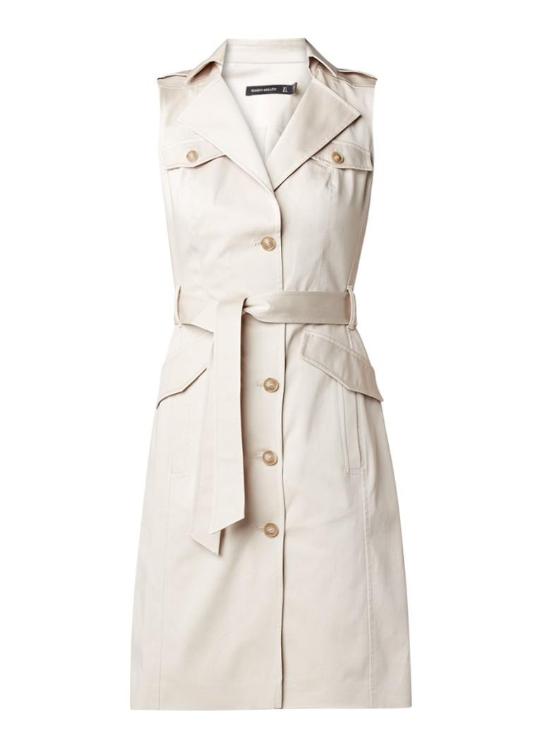 Karen Millen Safari jurk met trenchcoat look beige
