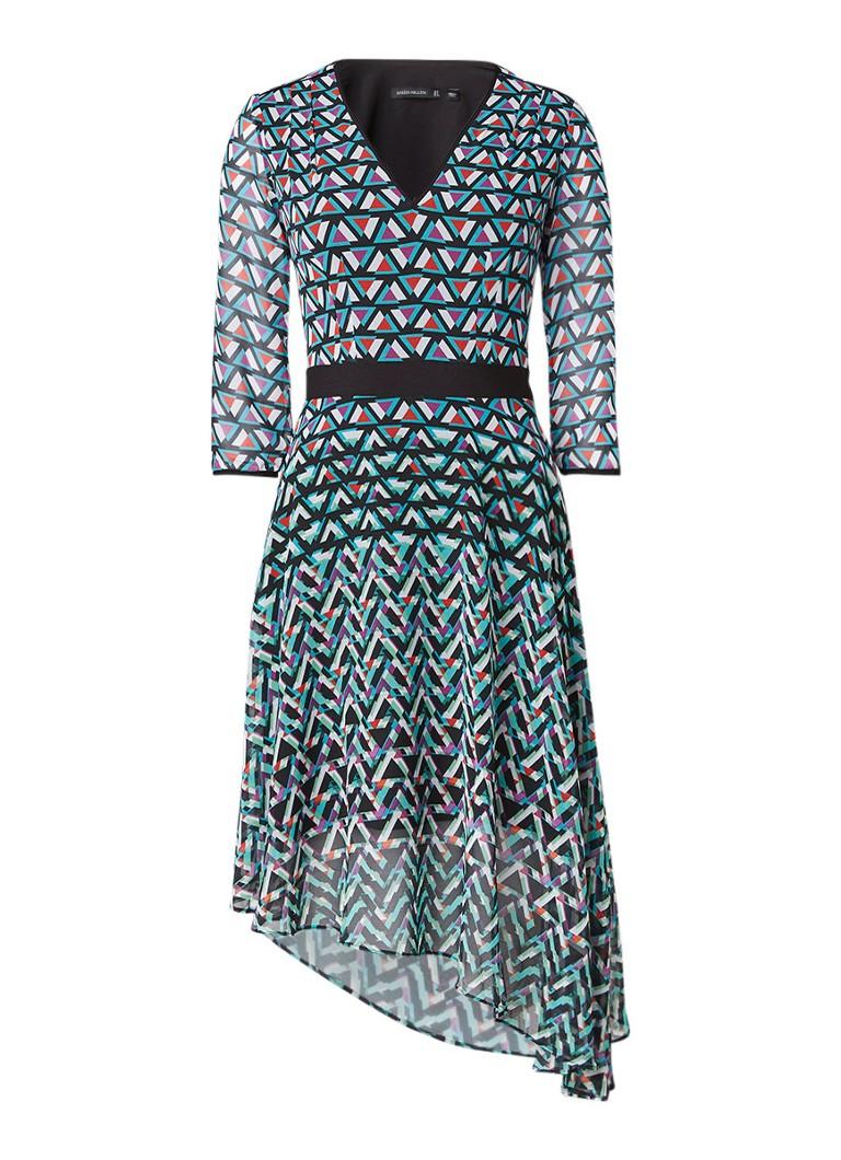 Karen Millen Pyramid jurk met geometrische print multicolor