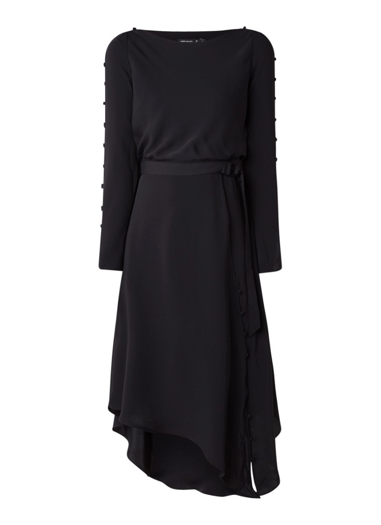 Karen Millen Midi-jurk met rugdecolleté zwart