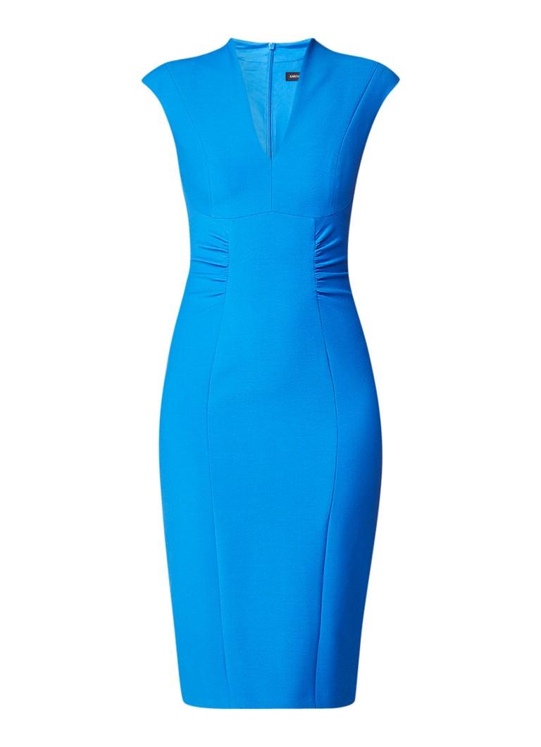 Karen Millen Bodycon jurk met V-hals royalblauw