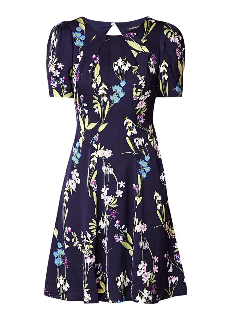 Karen Millen A-lijn jurk met bloemenprint donkerblauw