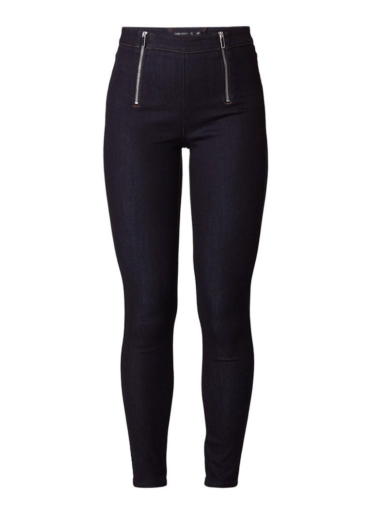 Karen Millen High rise skinny fit jeans met dubbele ritssluiting