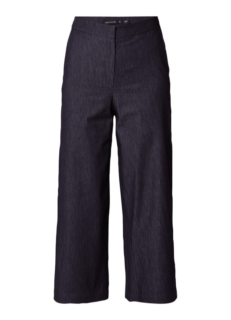 Karen Millen High rise culotte van denim met stretch
