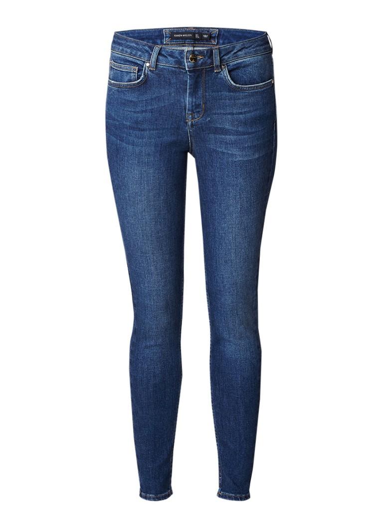 Image of Karen Millen High rise skinny jeans met donkere wassing