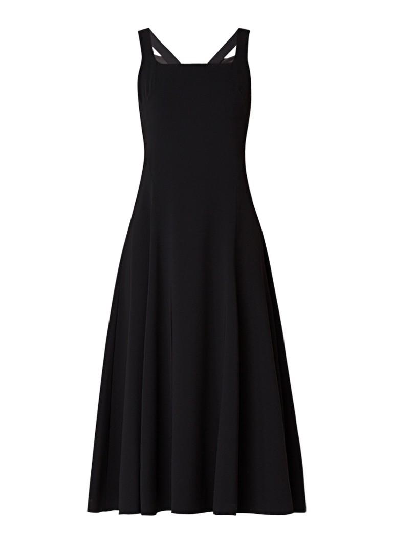 Karen Millen A-lijn jurk met gestreepte banden zwart
