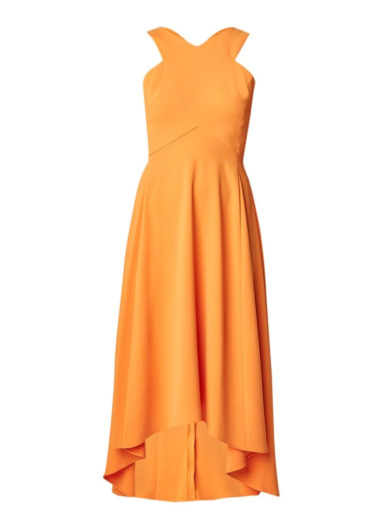 Karen Millen Midi-jurk met rugdecolleté oranje