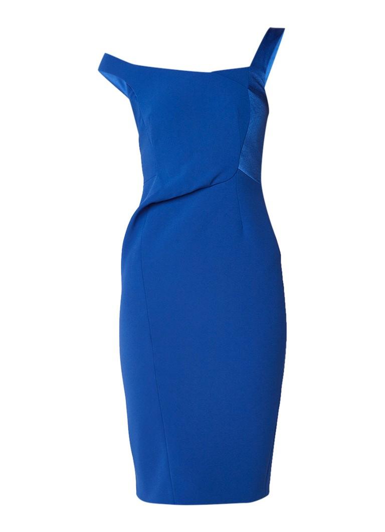 Karen Millen Asymmetrische midi kokerjurk royalblauw