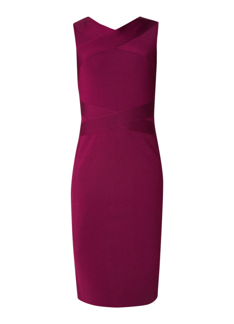 Karen Millen Strapping bodycon jurk met stretch paars