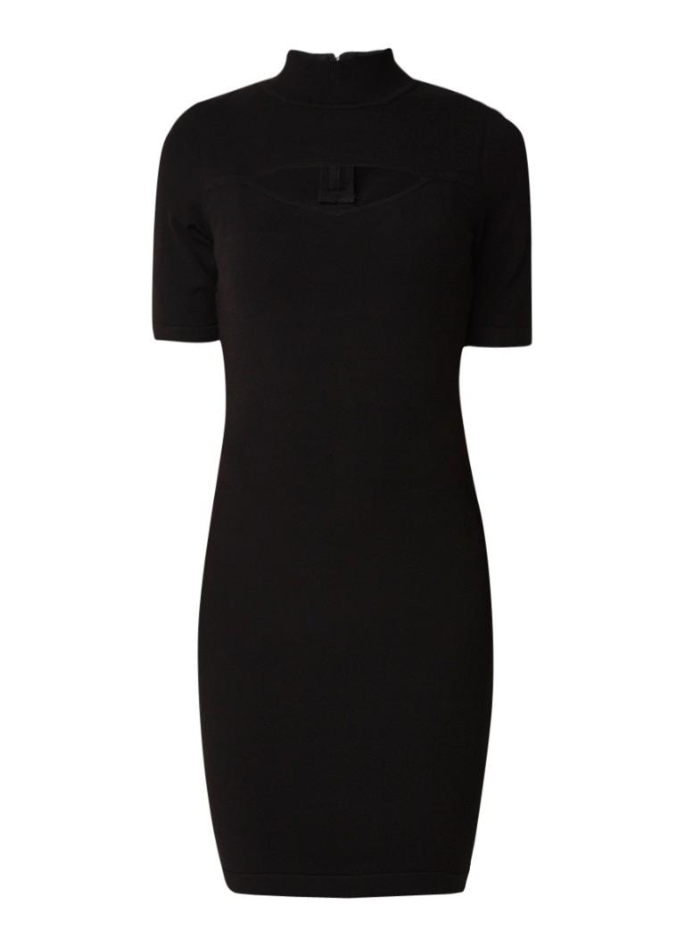 Karen Millen Fijngebreide jurk met cut-out detail zwart