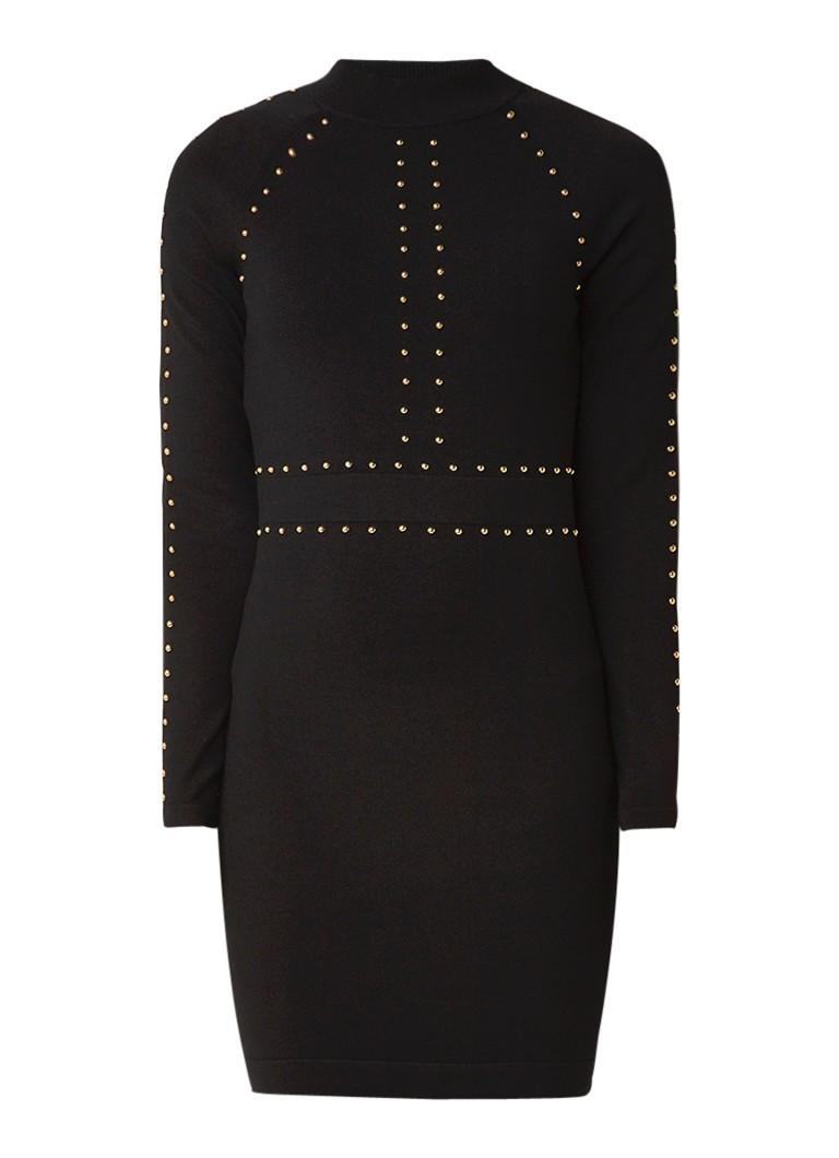 Karen Millen Fijngebreide bodycon jurk met studs zwart