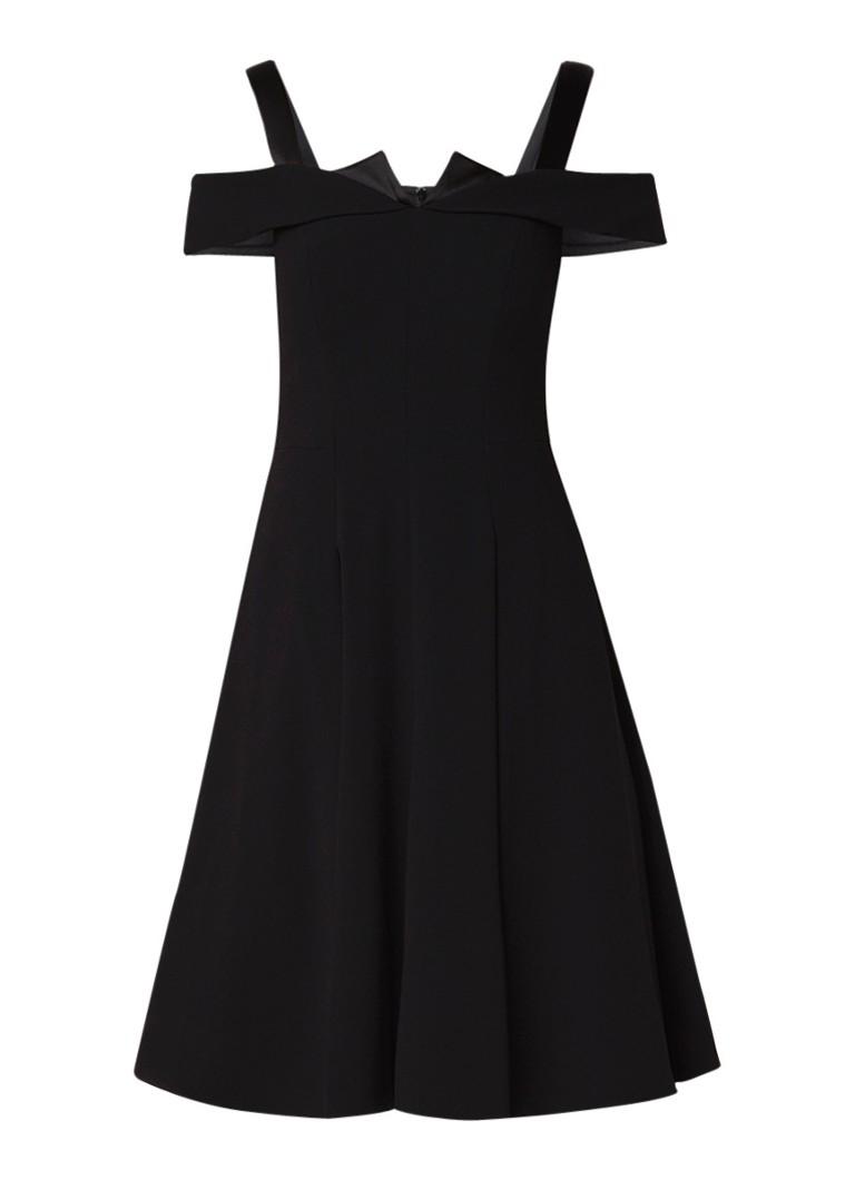 Karen Millen A-lijn jurk met cold-shoulder en coupenaden