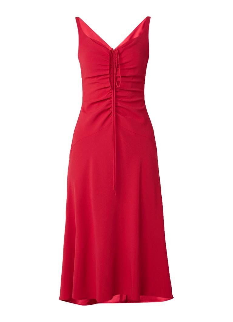 Karen Millen A-lijn jurk met gerimpeld detail roze