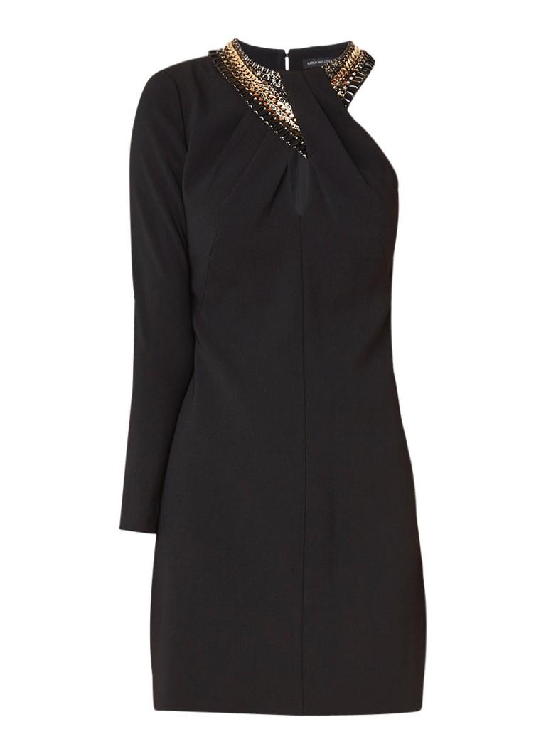 Karen Millen One shoulder jurk met kralenapplicatie