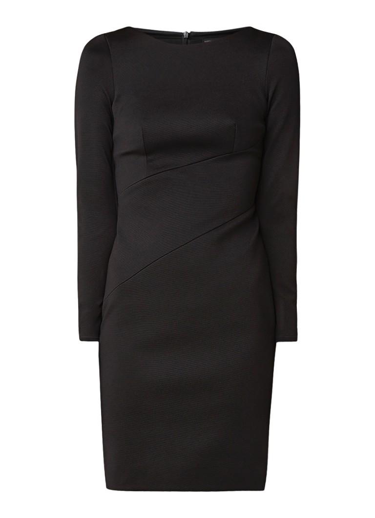 Karen Millen Mini-jurk met siernaden en franjes zwart