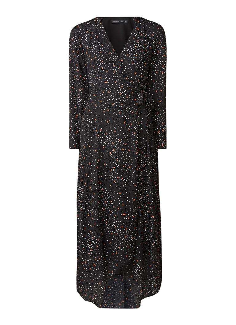 Karen Millen Maxi-jurk met strikceintuur en sterrendessin zwart