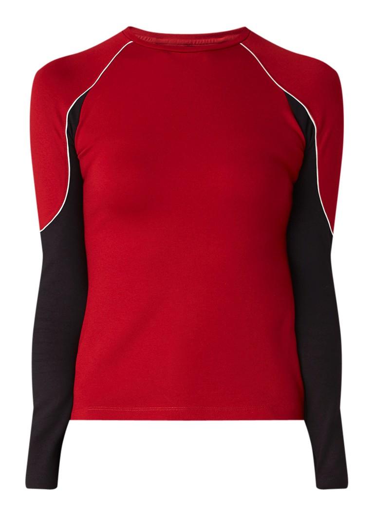 Karen Millen Fitted top van jersey met raglan mouw