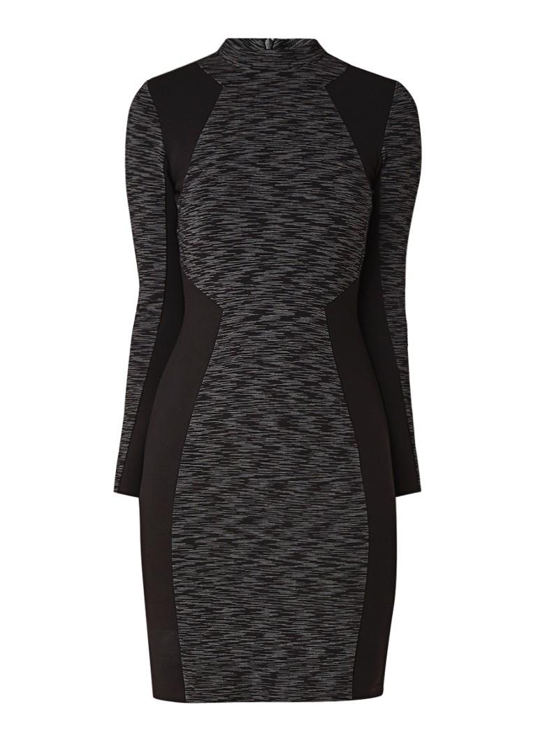 Karen Millen Space Dye midi-jurk van jersey zwart
