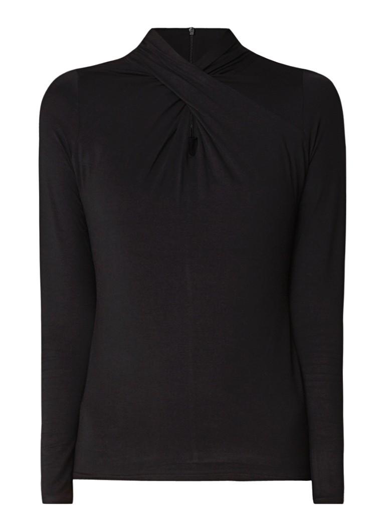 Image of Karen Millen Top van jersey met knoopdetail