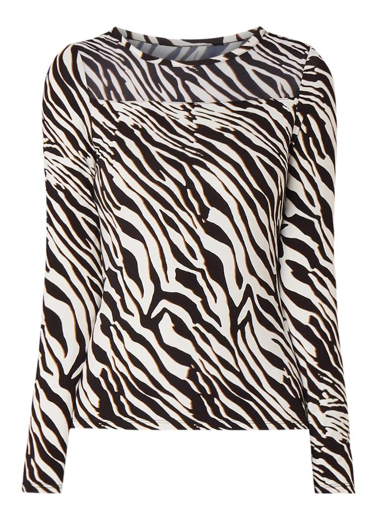 Image of Karen Millen Top met zebraprint