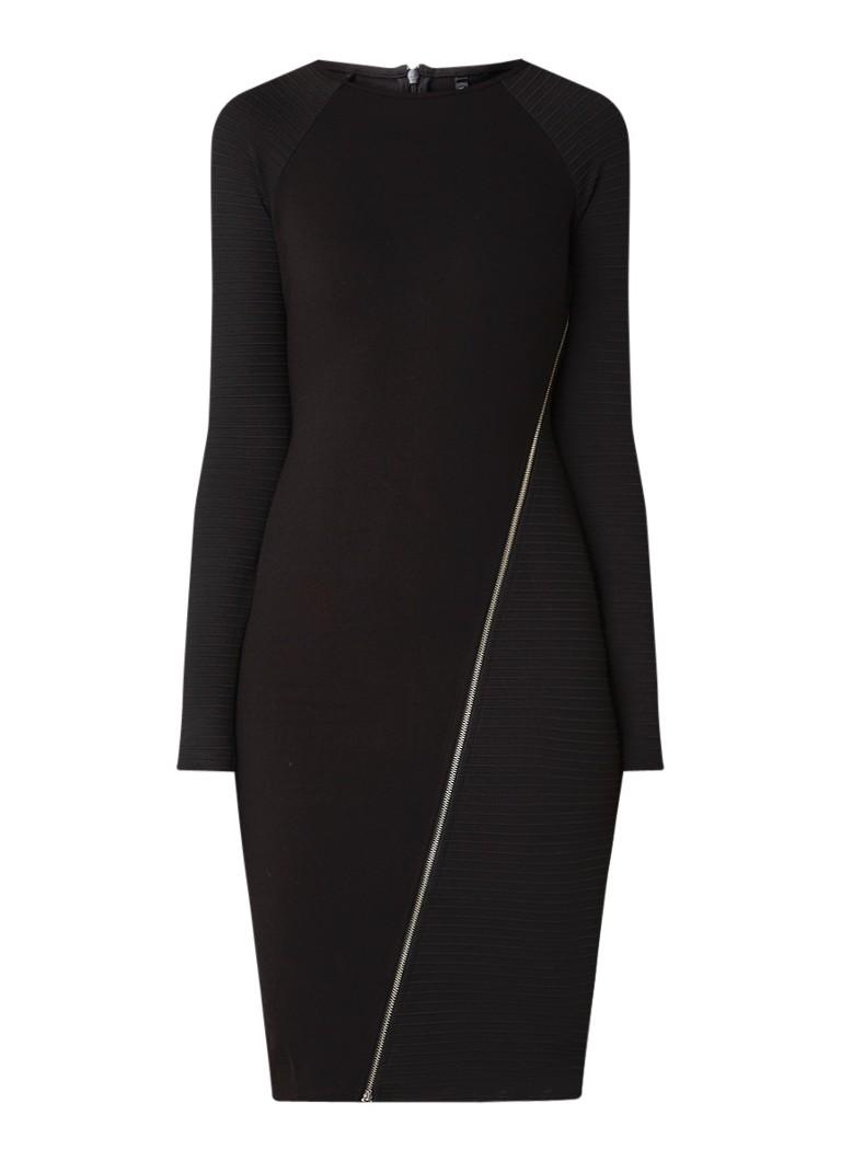Karen Millen Kokerjurk van jersey met ritsdetail zwart