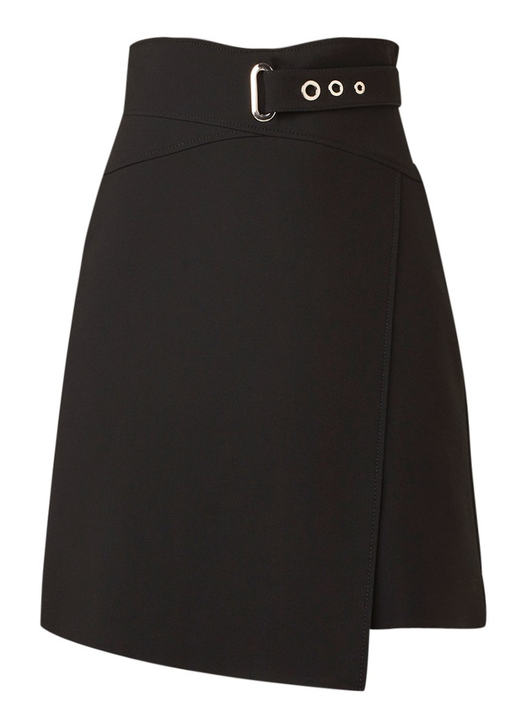 Image of Karen Millen Asymmetrische A-lijn rok met gespdetail