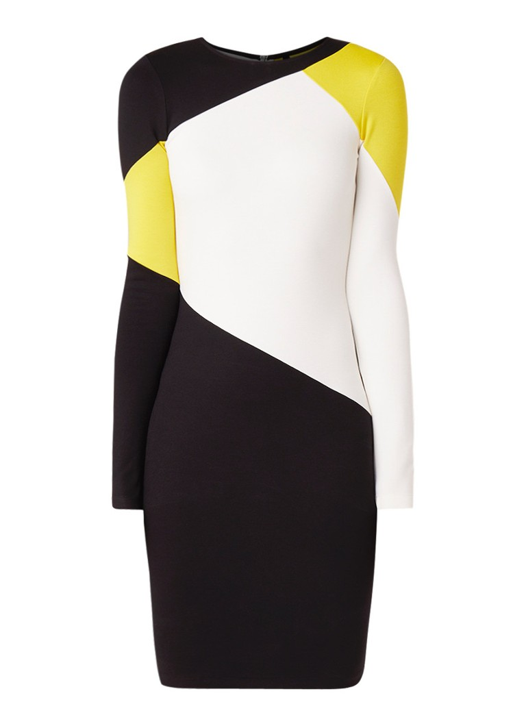 Karen Millen Jersey jurk met colour blocking multicolor