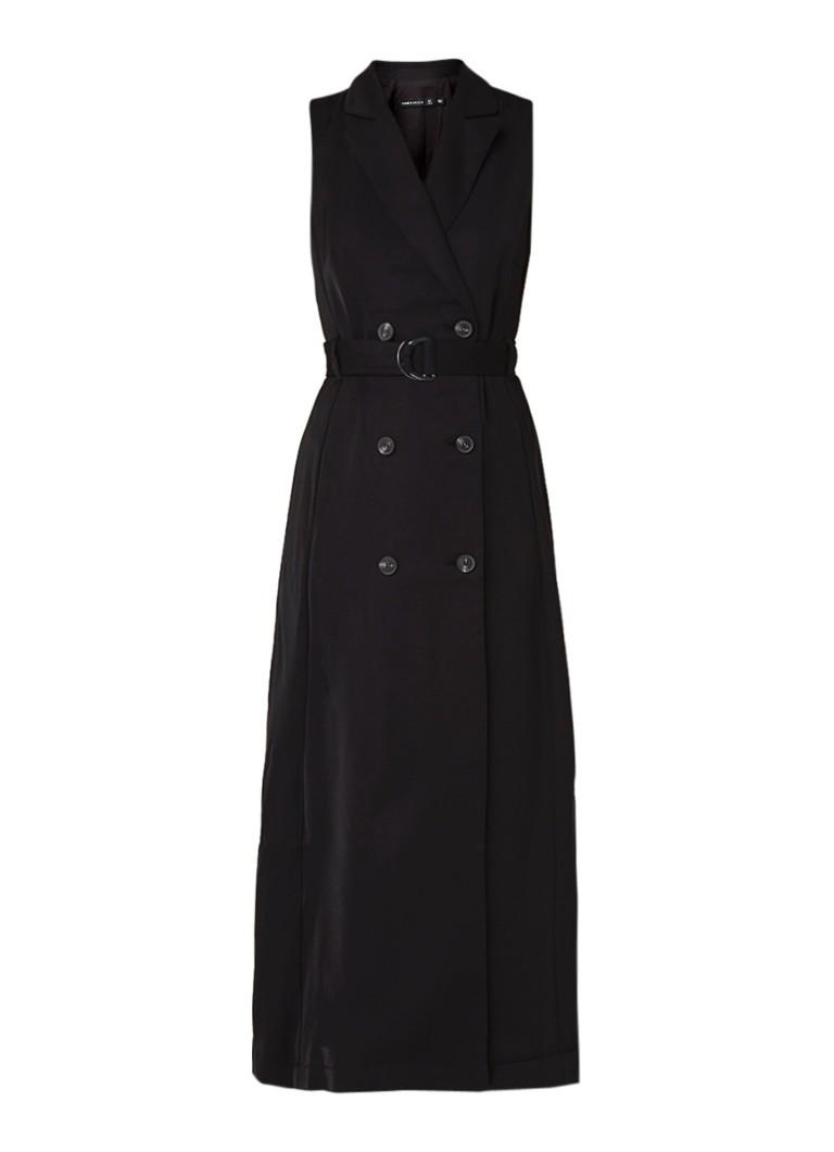 Karen Millen Double breasted maxi-jurk met ceintuur zwart
