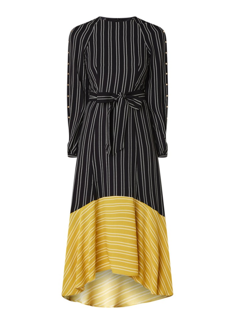 Karen Millen Maxi-jurk met strikceintuur en studs zwart