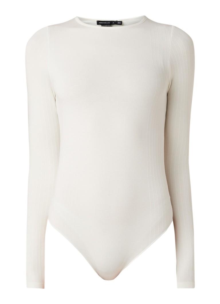 Karen Millen Body van jersey met ribgebreide details