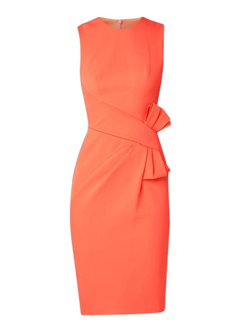 Karen Millen Kokerjurk met strikdetail oranje