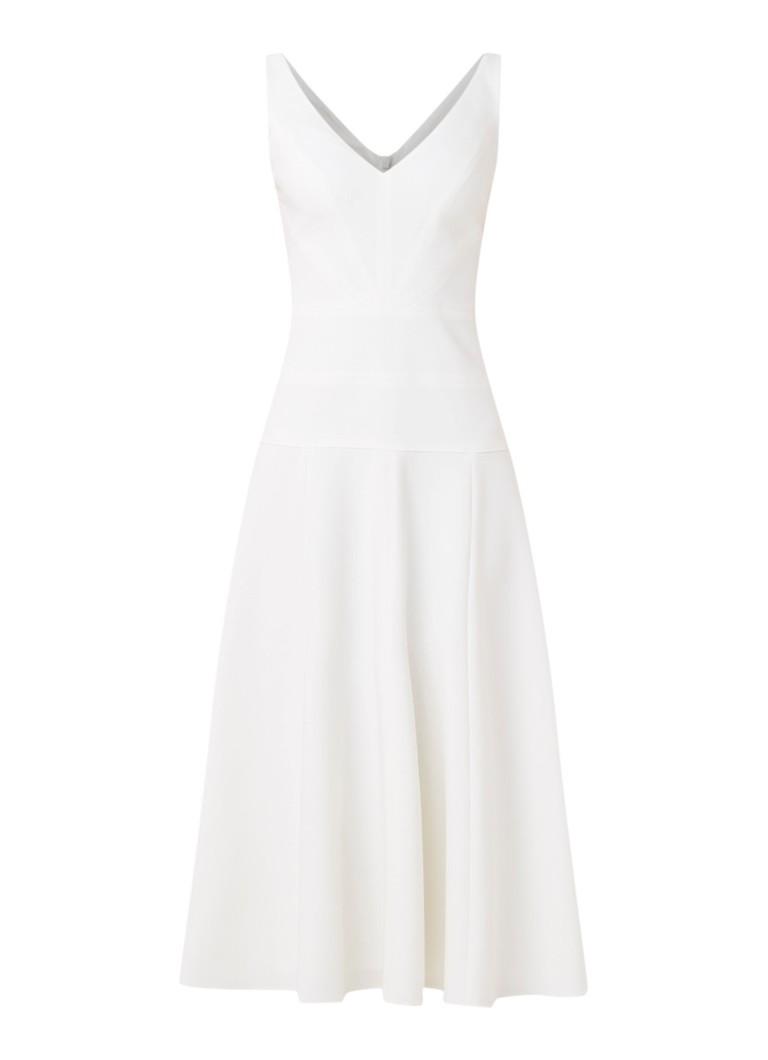 Karen Millen Bianca A-lijn jurk met V-hals wit