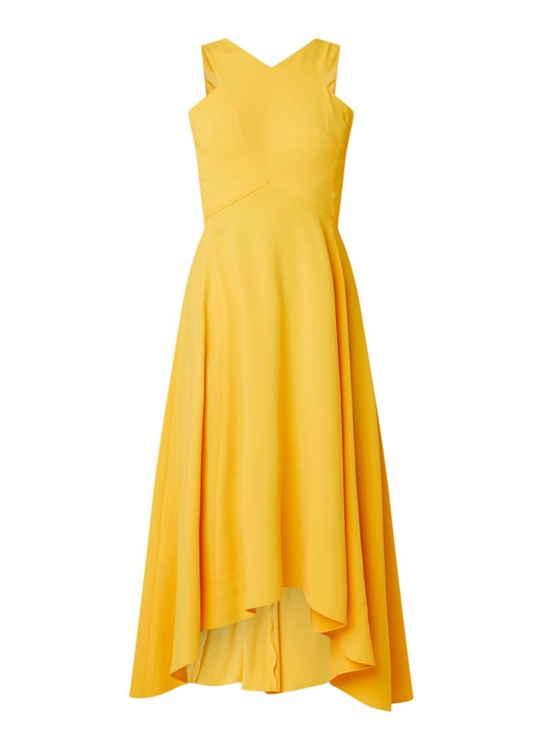Karen Millen Maxi-jurk met rugdecolleté maisgeel