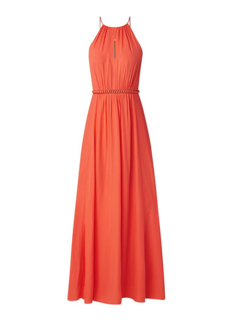 Karen Millen Maxi-jurk met kettingdetail koraal