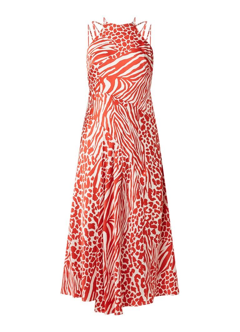 Karen Millen Midi-jurk met dessin multicolor