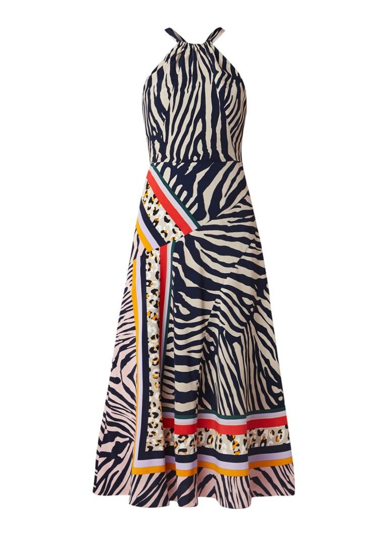 Karen Millen Maxi-jurk met animal dessin hazelnootbruin