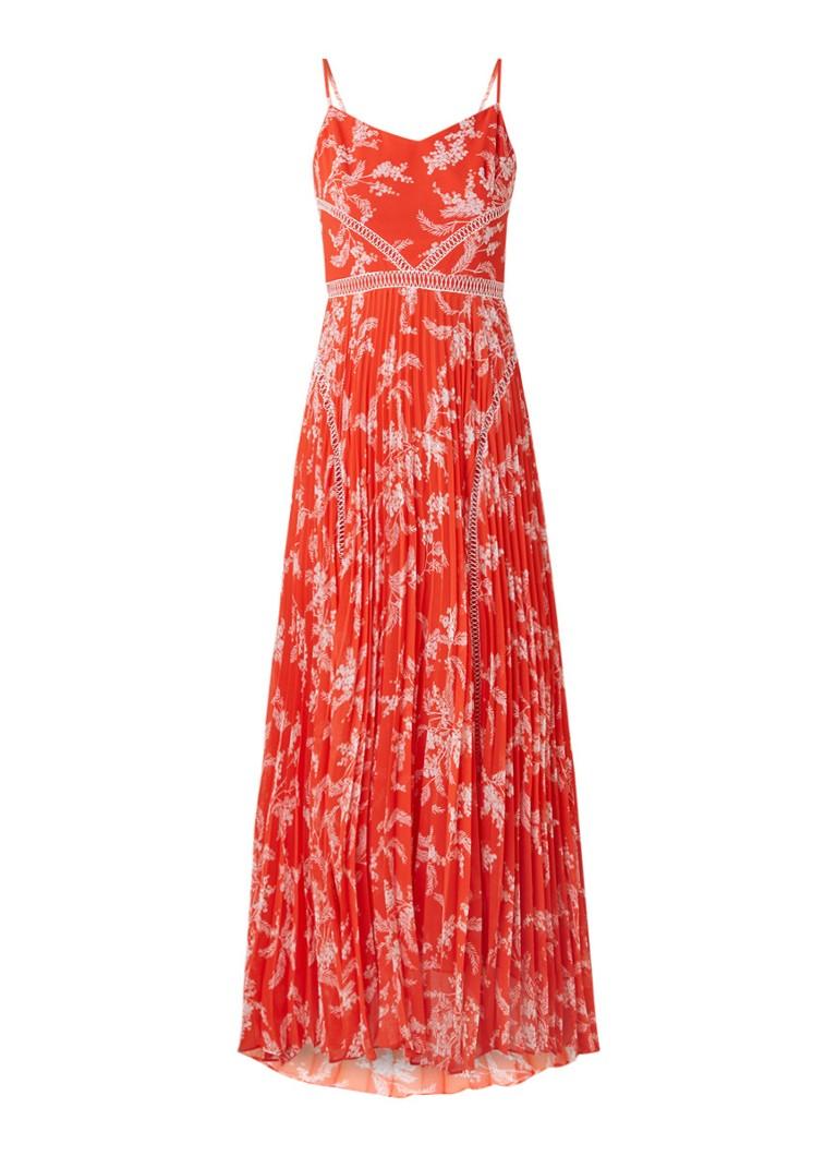 Karen Millen Maxi-jurk met opengewerkt detail rood