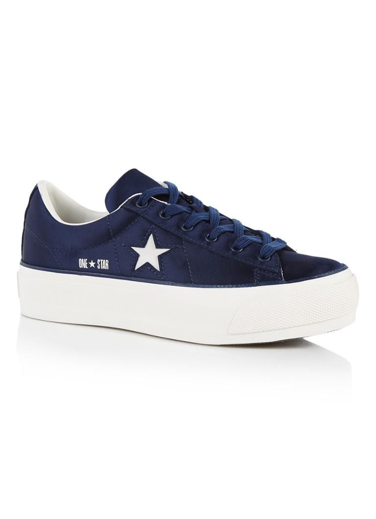 Converse One Star Platform OX sneaker van satijn