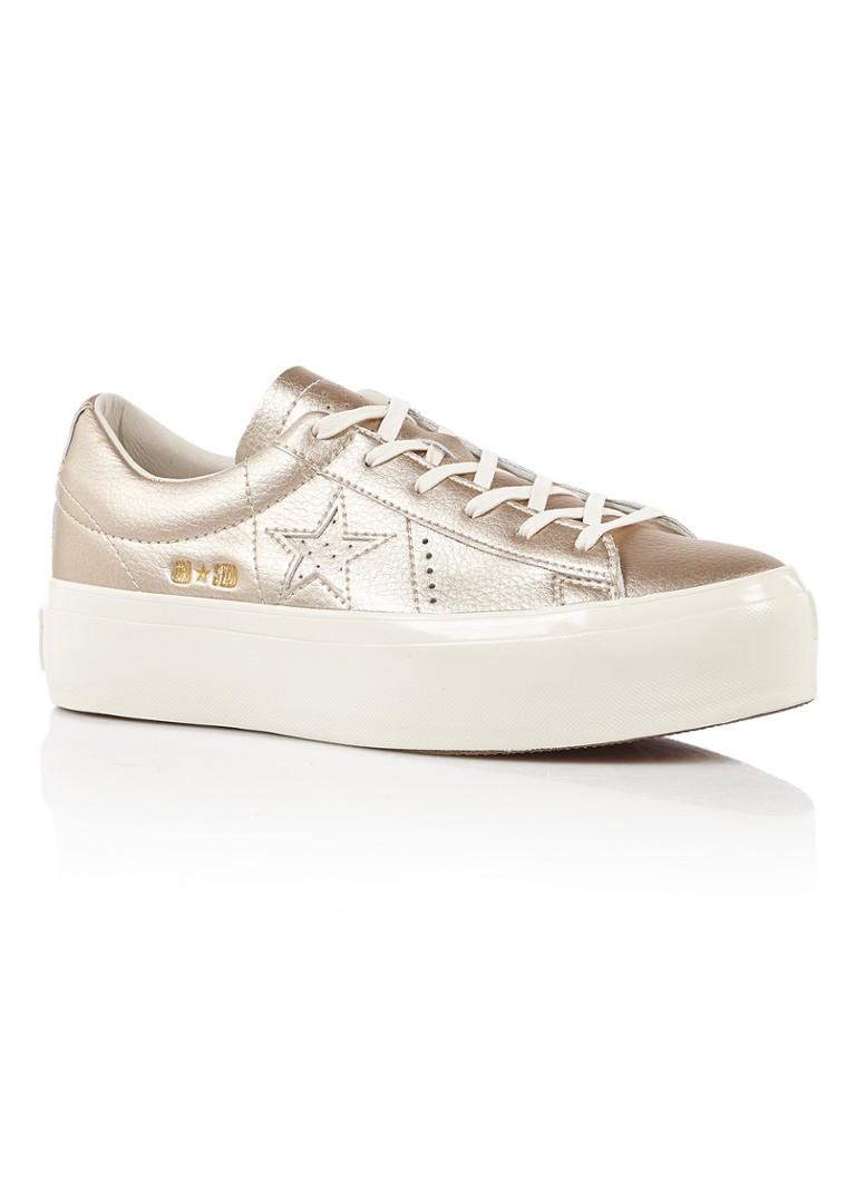 Converse One Star Platform OX sneaker van leer