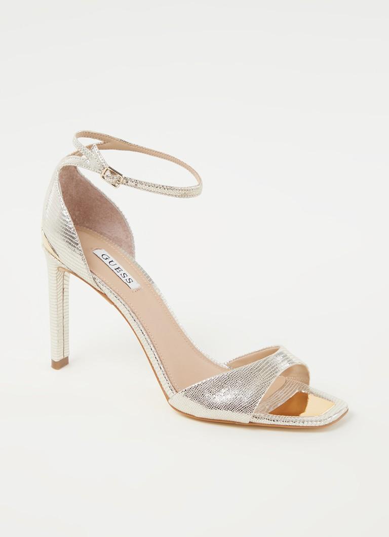 Guess Divine sandalette met leren details en metallic finish online kopen