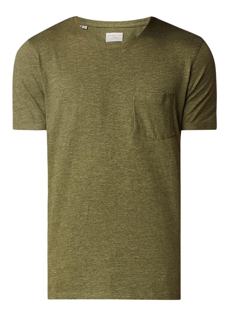 Selected Homme Tristan gemêleerd T-shirt met ronde hals
